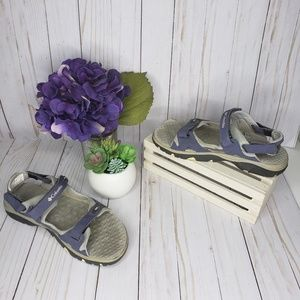 Columbia Purple Gray All Terrain Sandals